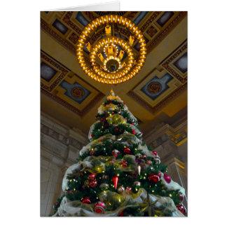 カンザスシティ連合場所のクリスマスツリー カード