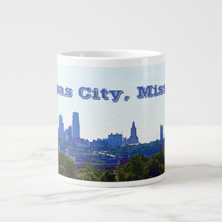 カンザスシティ、ミズーリのスカイライン ジャンボコーヒーマグカップ