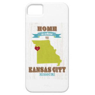 カンザスシティ、ミズーリの地図-どこであります家 iPhone SE/5/5s ケース