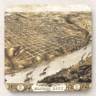 カンザスシティ、ミズーリ(1869年)の空中写真 コースター