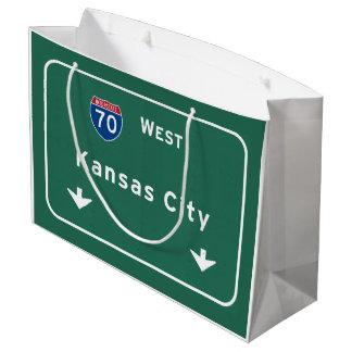 カンザスシティKCミズーリの州間幹線道路の高速道路 ラージペーパーバッグ