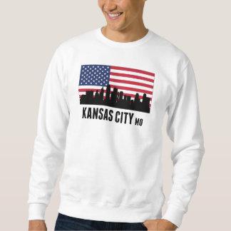 カンザスシティMOの米国旗 スウェットシャツ