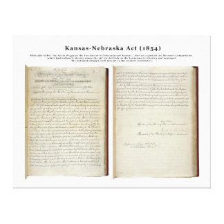 カンザスネブラスカの行為(1854年) キャンバスプリント