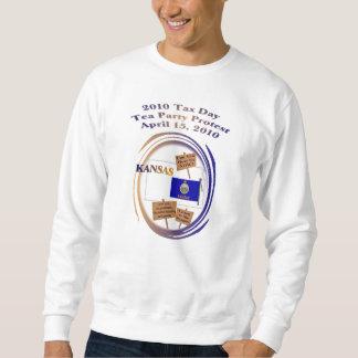 カンザス税日のお茶会の抗議のスエットシャツ スウェットシャツ