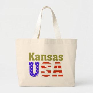 カンザス米国! ラージトートバッグ