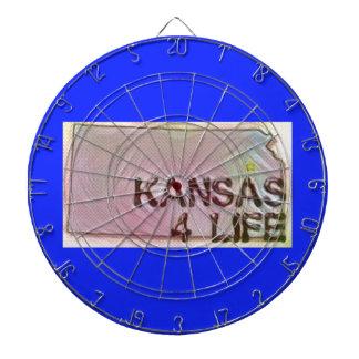 """""""カンザス4生命""""の州の地図のプライドのデザイン ダーツボード"""