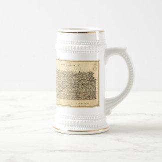 カンザス(1884年)のヴィンテージの地図 ビールジョッキ