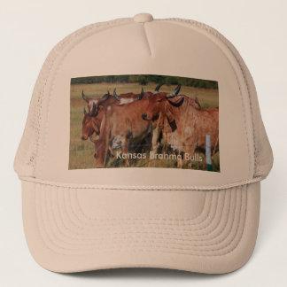 カンザスBrahmaの雄牛のトラック運転手の帽子 キャップ