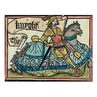 「カンタベリーの物語からのイラストレーション ポストカード