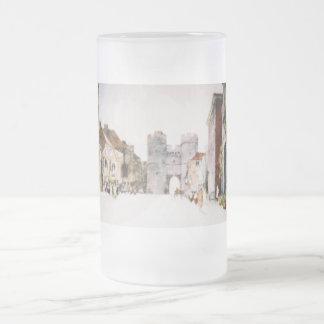 カンタベリータワーのゲートのイメージの霜の降りたなマグ フロストグラスビールジョッキ