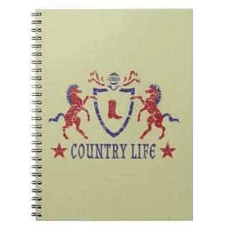 カントリーライフの紙のノート ノートブック