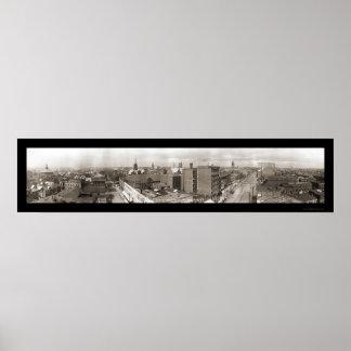 カントンオハイオ州の写真1913年 ポスター