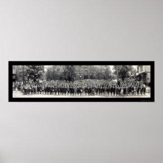 カントンオハイオ州日曜学校の写真1914年 ポスター