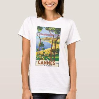 カンヌCote d'Azurヴィンテージ旅行ポスター Tシャツ