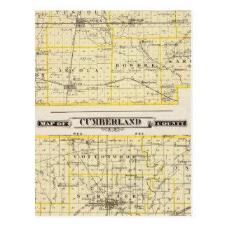 カンバーランド郡のダグラス郡の地図の地図 ポストカード
