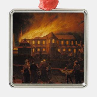 カンブレーのカテドラルの火、1859年9月9日 メタルオーナメント