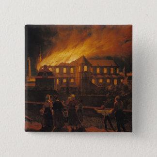 カンブレーのカテドラルの火、1859年9月9日 5.1CM 正方形バッジ