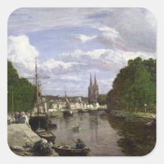 カンペール1857年の港 スクエアシール