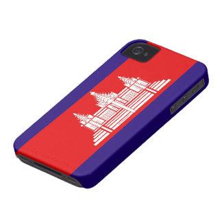 カンボジアのブラックベリーのはっきりしたな箱の旗 Case-Mate iPhone 4 ケース