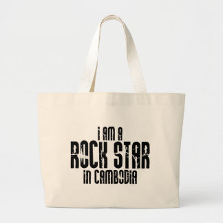 カンボジアのロックスター ラージトートバッグ