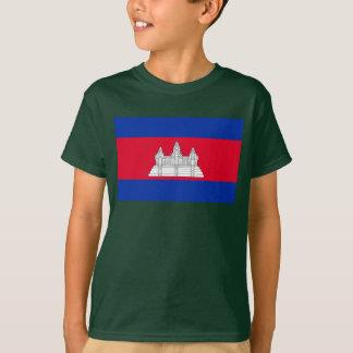 カンボジアの世界の旗 Tシャツ