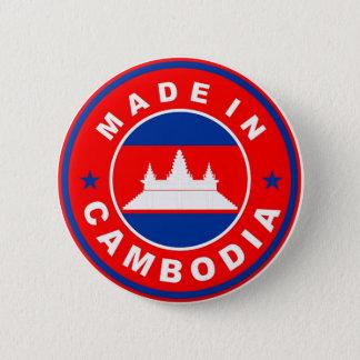 カンボジアの国旗プロダクトラベルで作られる円形に 5.7CM 丸型バッジ