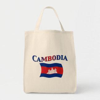 カンボジアの国旗 トートバッグ