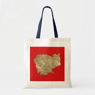 カンボジアの地図のバッグ トートバッグ