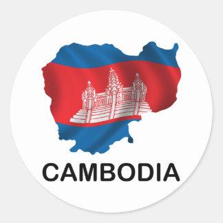 カンボジアの地図 ラウンドシール