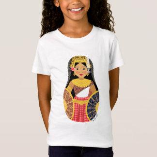 カンボジアの女の子のMatryoshkaの女の子のベビードール(合う) Tシャツ