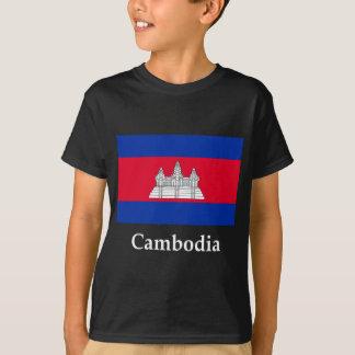 カンボジアの旗および名前 Tシャツ