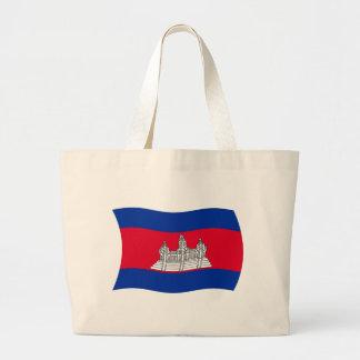 カンボジアの旗のトートバック ラージトートバッグ