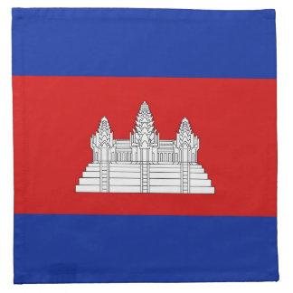 カンボジアの旗のナプキン ナプキンクロス
