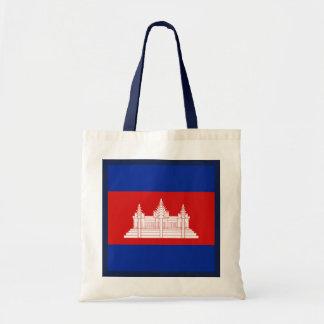 カンボジアの旗のバッグ トートバッグ