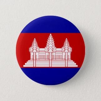 カンボジアの旗ボタン 5.7CM 丸型バッジ