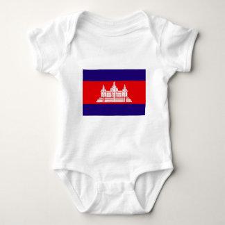 カンボジアの旗 ベビーボディスーツ