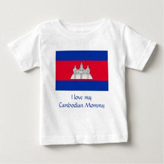 カンボジアの旗 ベビーTシャツ