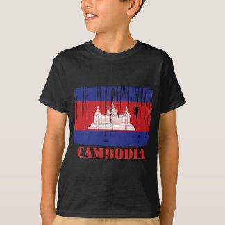 カンボジアの旗 Tシャツ