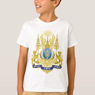 カンボジアの紋章付き外衣 Tシャツ