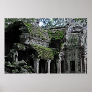 カンボジアのtaのprohmの寺院 ポスター