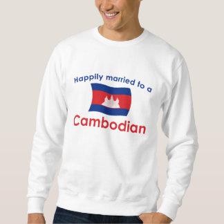 カンボジア人に幸福に結婚した スウェットシャツ