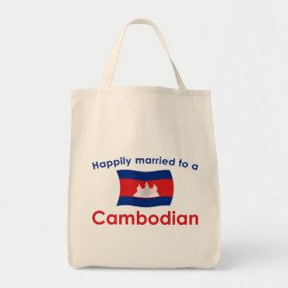 カンボジア人に幸福に結婚した トートバッグ