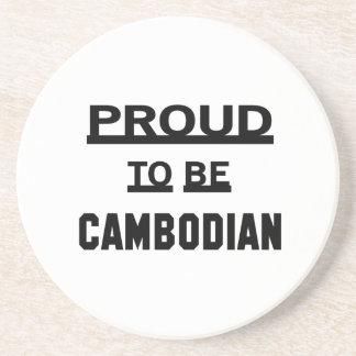 カンボジア語があること誇りを持った コースター