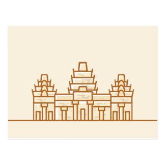 カンボジア-アンコール・ワット ポストカード