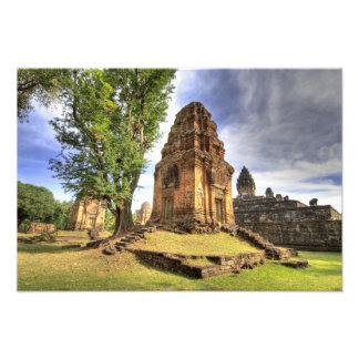 カンボジア、アンコール・ワット。 Bakongの寺院の眺め フォトプリント
