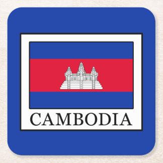 カンボジア スクエアペーパーコースター