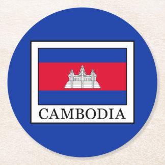カンボジア ラウンドペーパーコースター