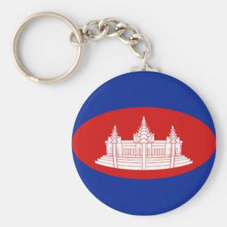 カンボジアFisheyeの旗Keychain キーホルダー