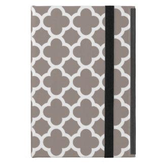 カーキ色のクローバーの格子垣パターン iPad MINI ケース