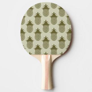 カーキ色のパイナップルパターン 卓球ラケット